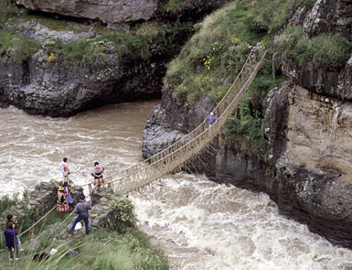 Rope Bridges Across Deep Canyons