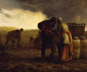 The Potato Harvest by Millet 1855